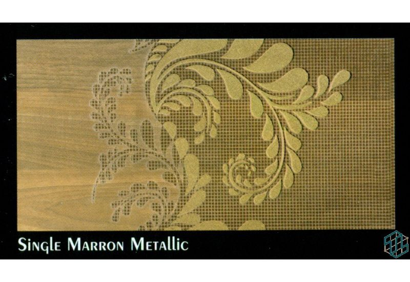 Alexandra (Single Marron Metallic) - Wall Tile