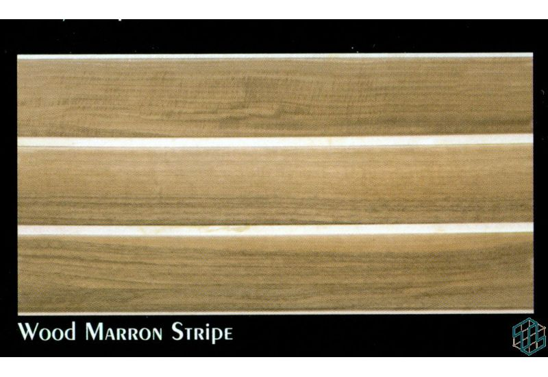 Alexandra (Wood Marron Stripe) - Wall Tile