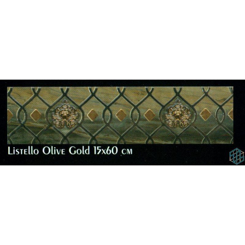 Victoria (Listello Olive Gold (15 x 60 cm