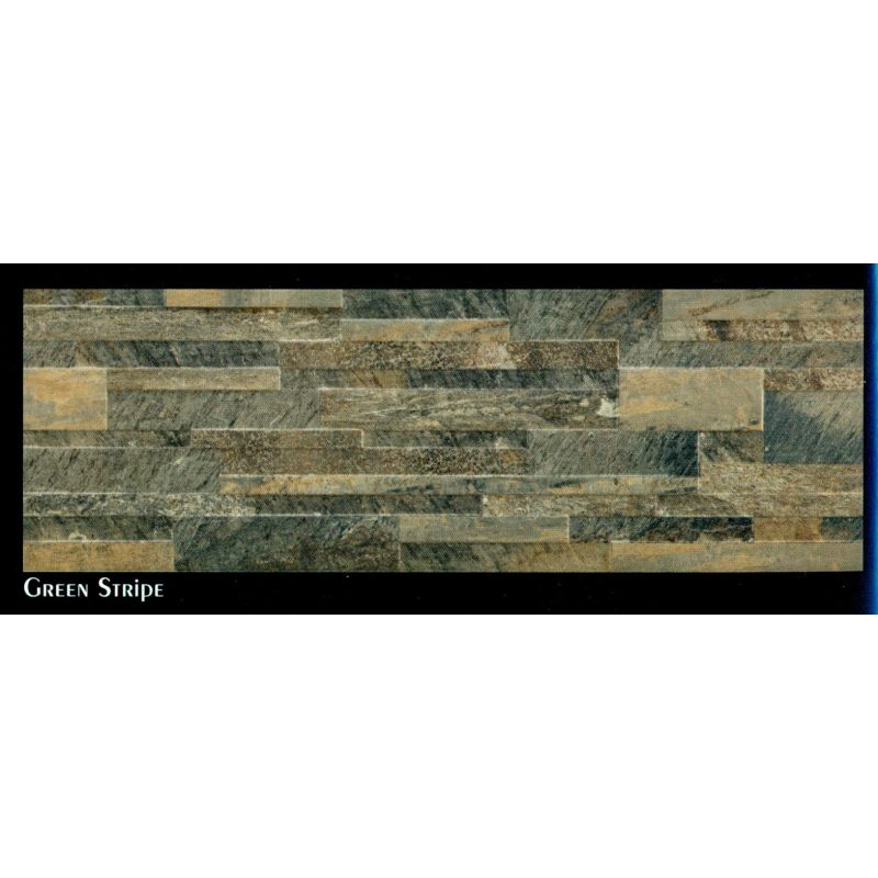Slate (Green Stripe) - Wall Tile