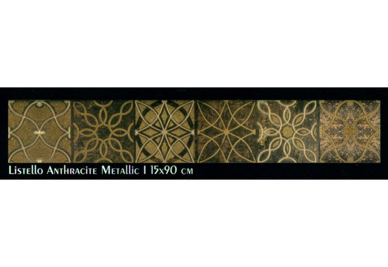Slate (Listello Anthracite Metallic 1 (15-90 cm))