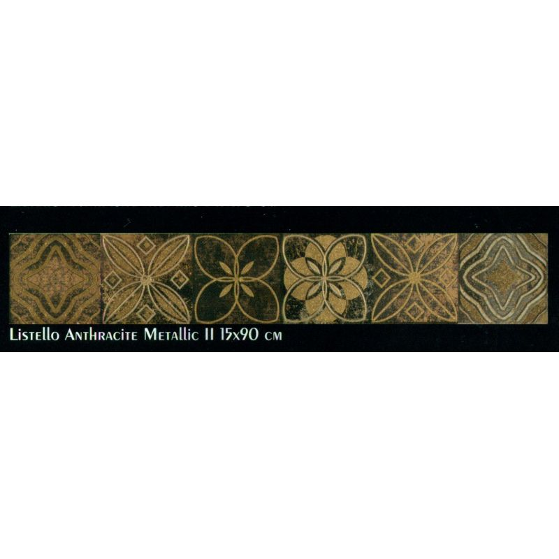Slate (Listello Anthracite Metallic 2 (15-90 cm))