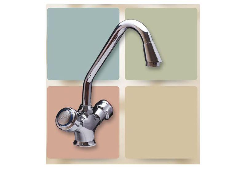 Pipe Mono-Block Basin Mixer (Star)