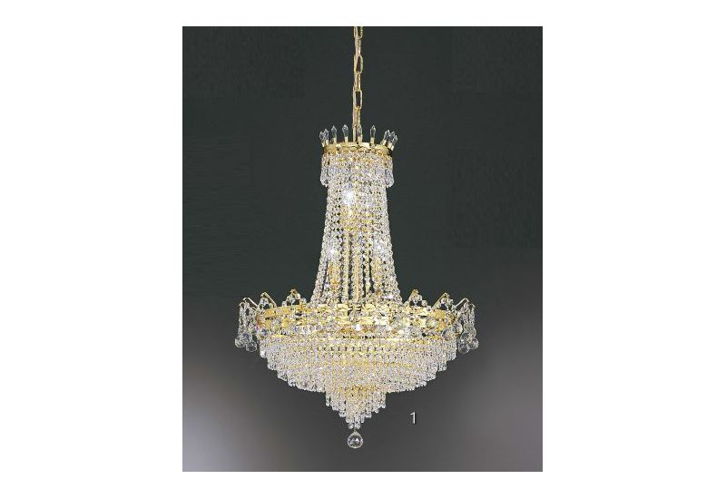 Gold overhanging Chandelier CH640/90