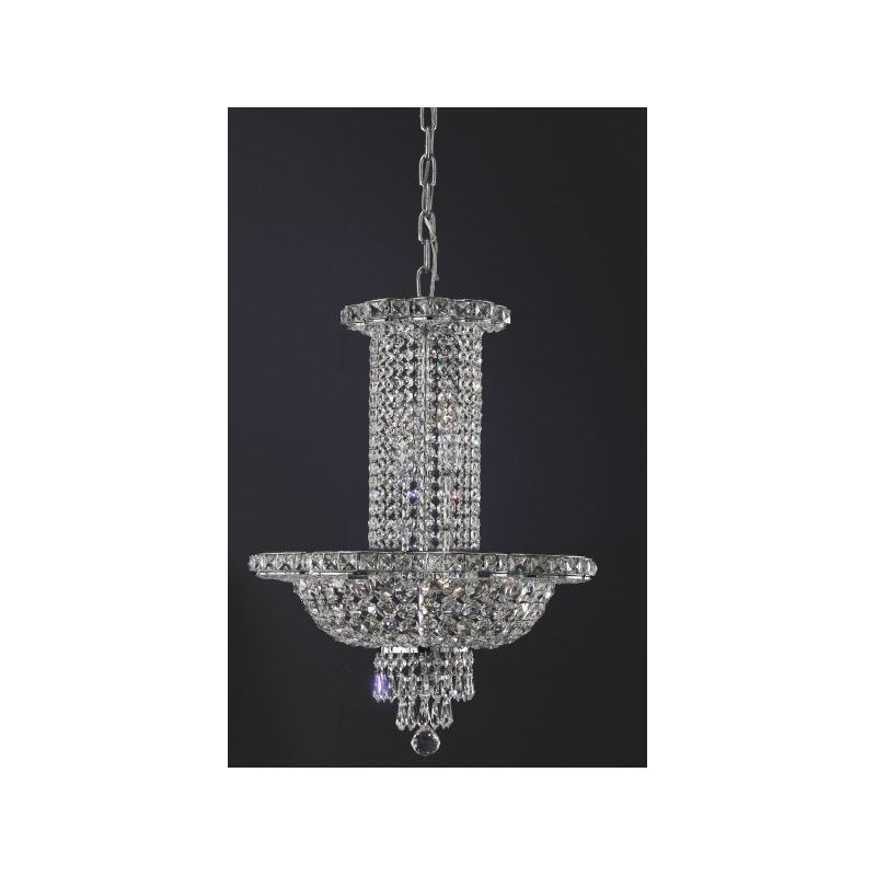 Silver overhanging chandelier CH488/50