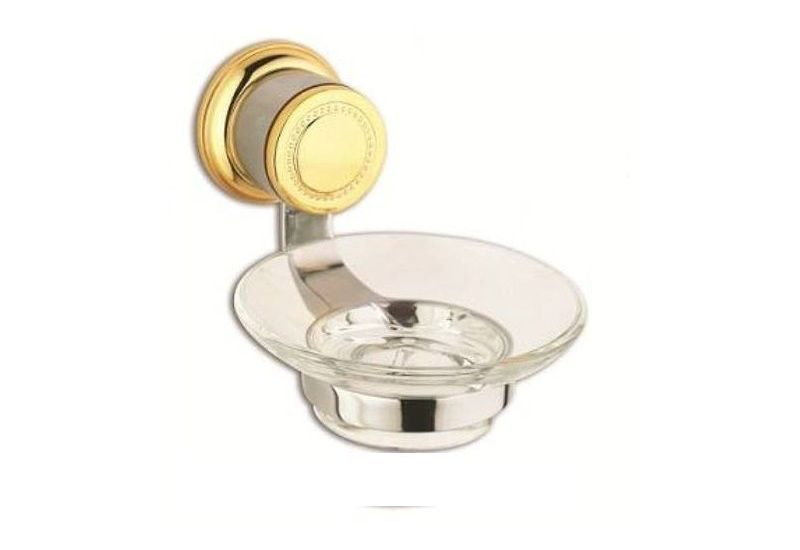Goldena Chrome Glass Soap Dish
