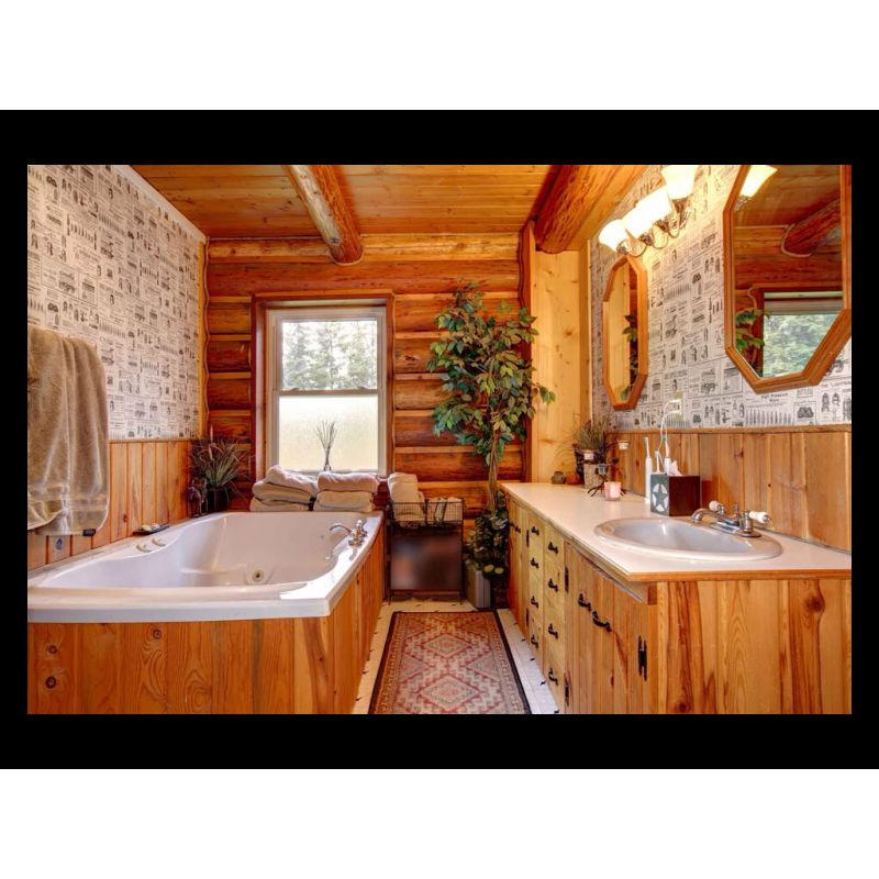 Wooden bathing room