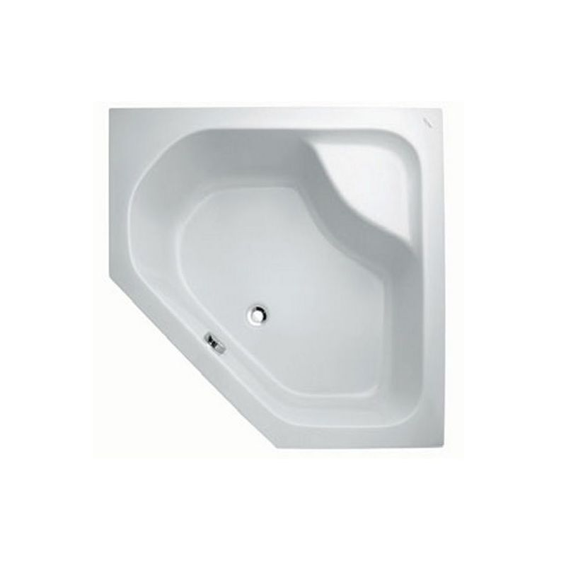 Five-sided shower tray (100 x 100 x 28)cm
