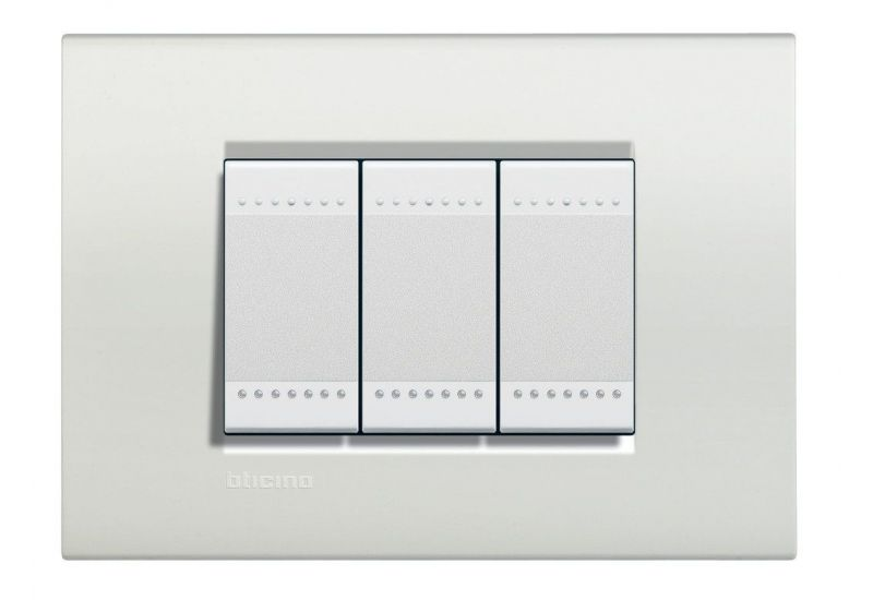 Neutral Cover Plate Three Modules