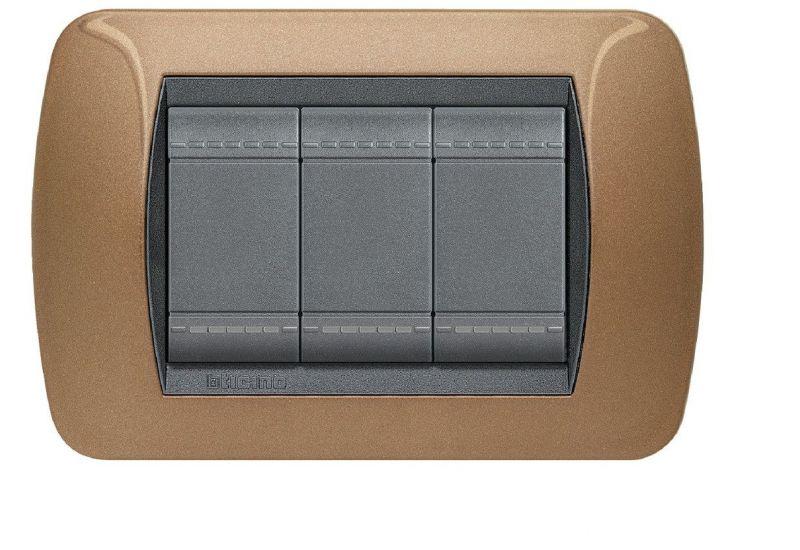Metalic Cover Plate Three Modules