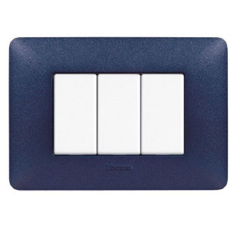 Blue Mercury Texture Cover Plates Three Modules