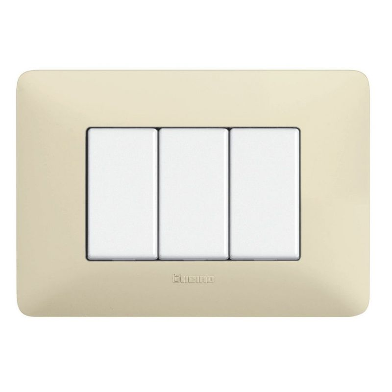Ivory Whites Cover Plates Three Modules