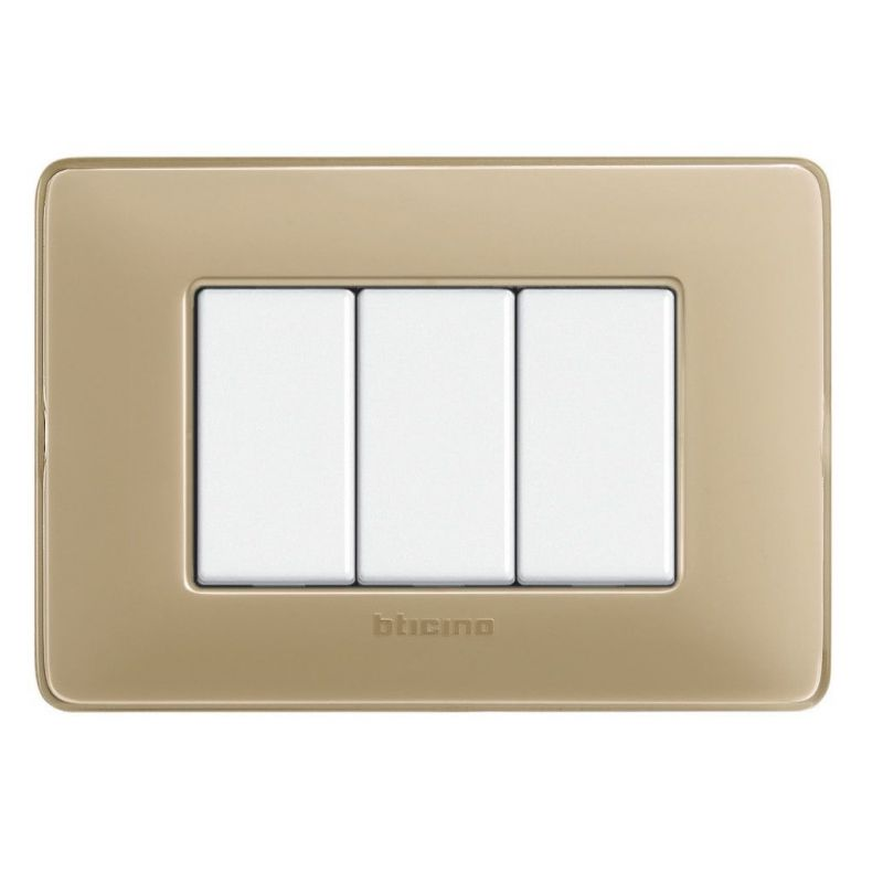 Ivory Colours Cover Plates Three Modules