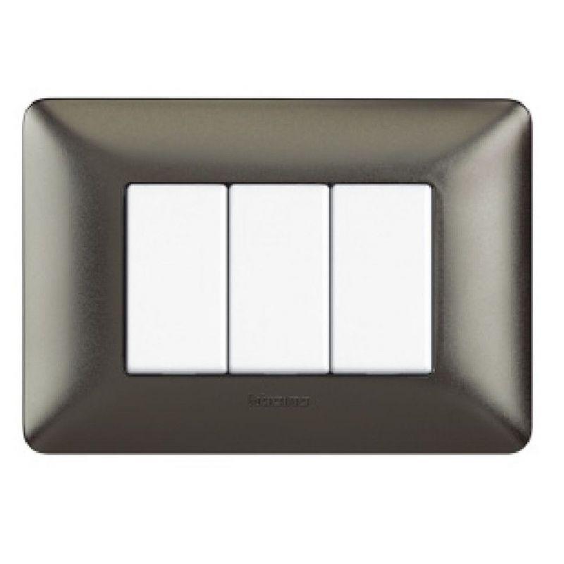 Black Nichel Galvanics Cover Plates Three Modules