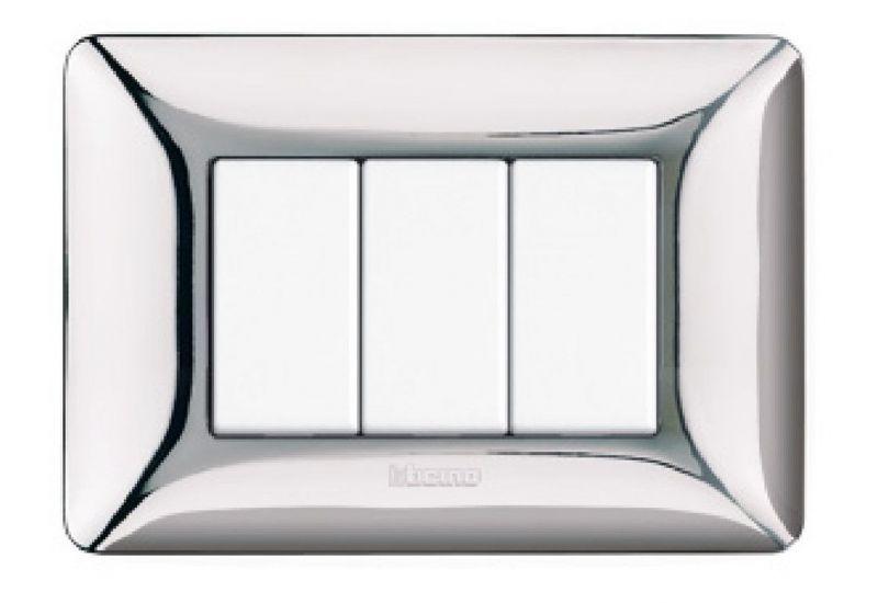 Shiny Chrome Galvanics Cover Plates