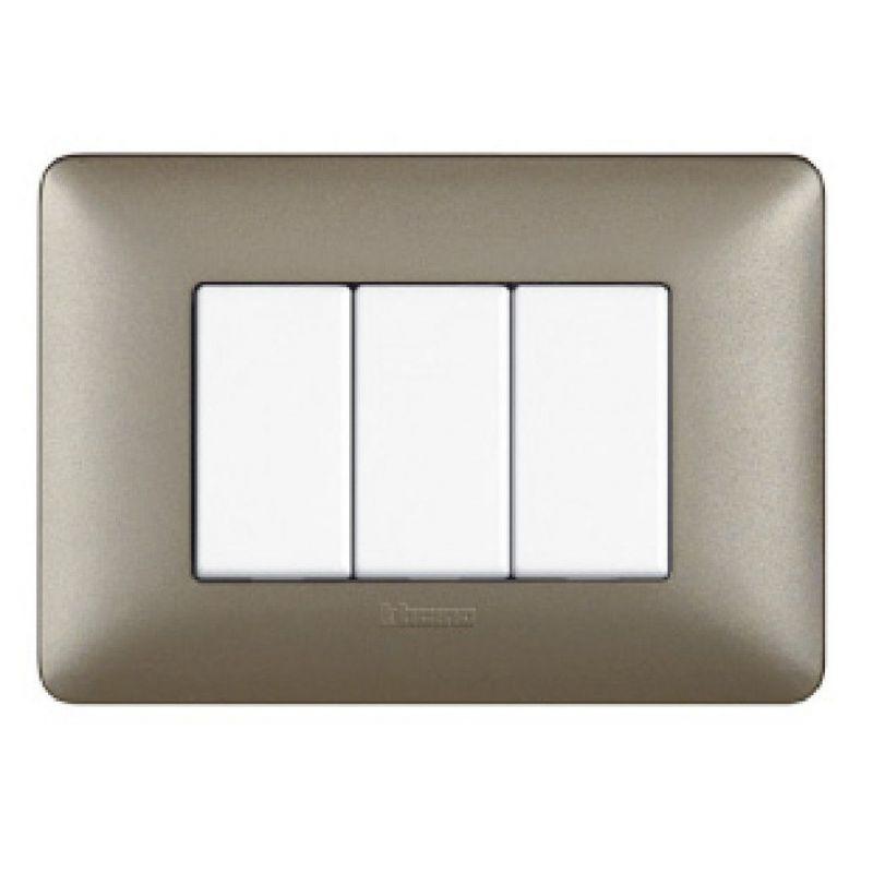 Titanium Metallics Cover Plates Three Modules
