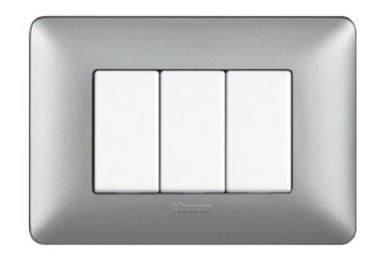 Silver Metallics Cover Plates