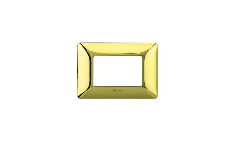 Shiny Gold Galvanics Cover Plates Two Modules