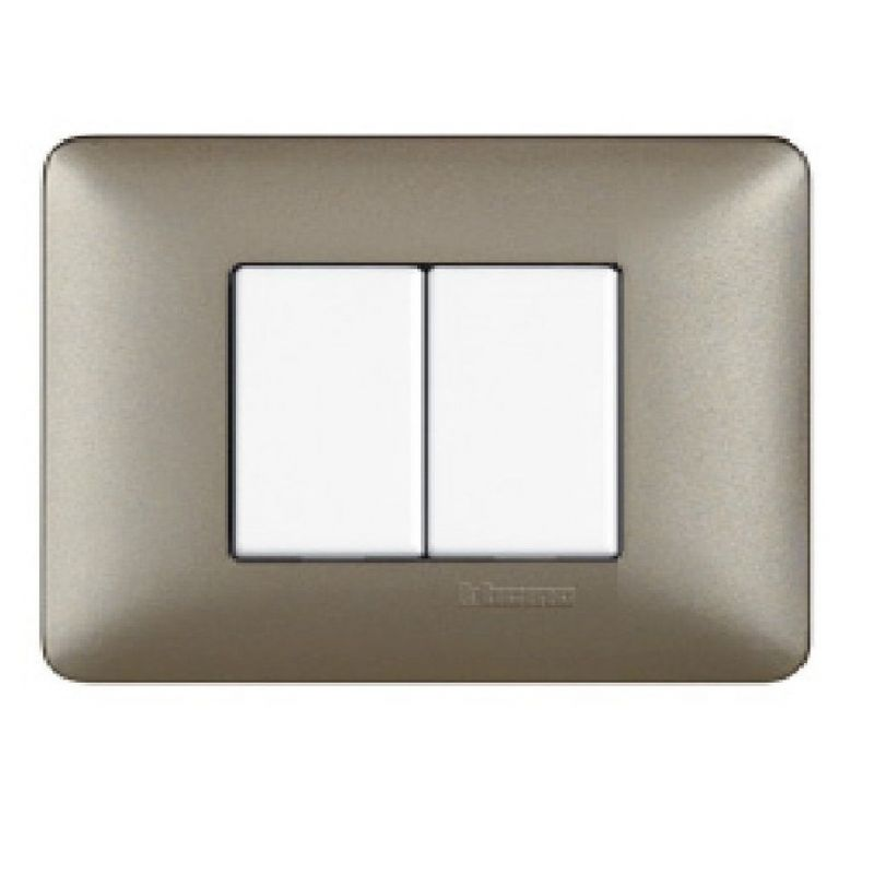 Titanium Metallics Cover Plates Two Modules