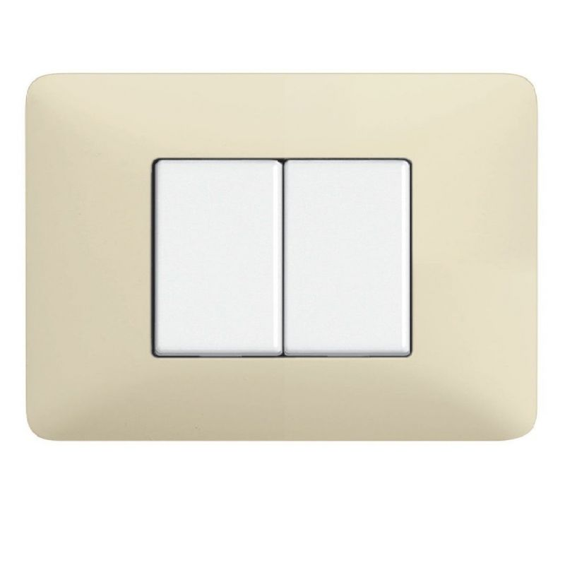 Ivory Whites Cover Plates Two Modules