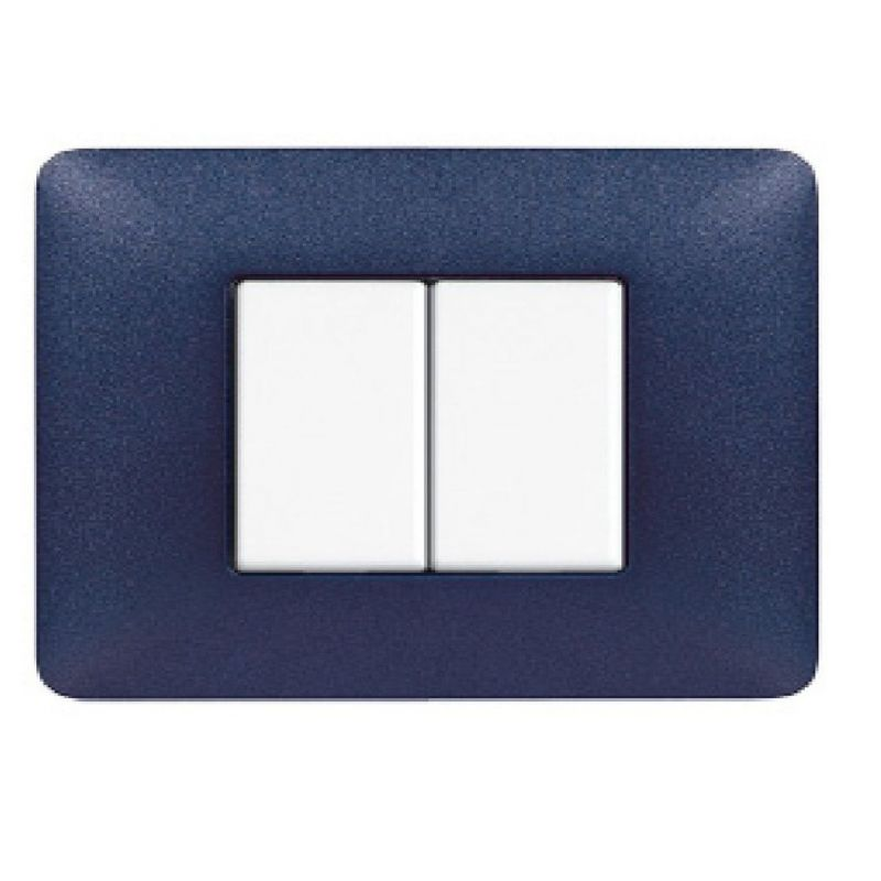 Blue Mercury Texture Cover Plates Two Modules