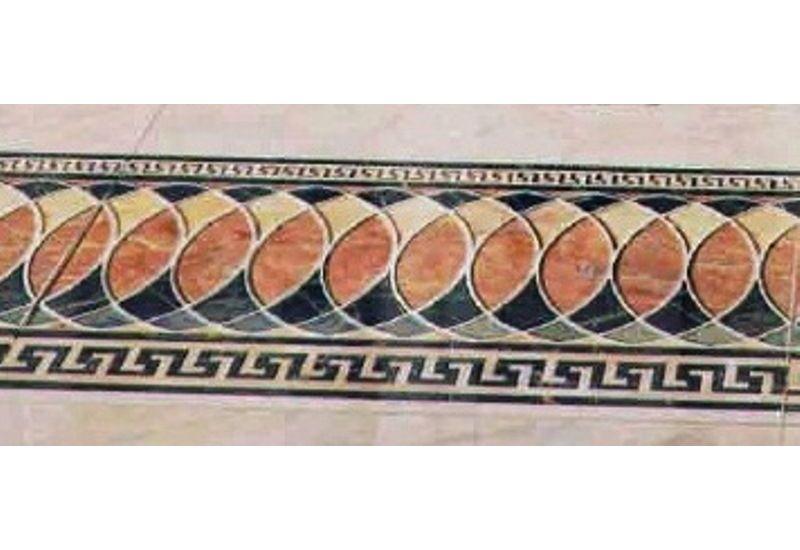 """Ceramic Floor Tile """"Stripe Carpet 6007"""""""