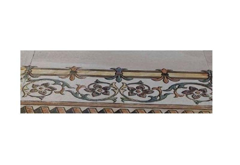 """Ceramic Floor Tile """"Stripe Carpet 6012"""""""