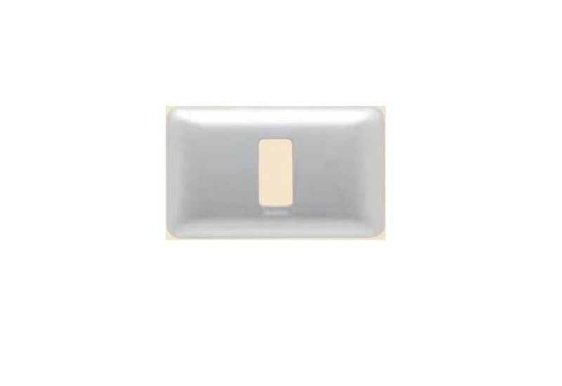 Magic Advance Silver Cover Plate One Module