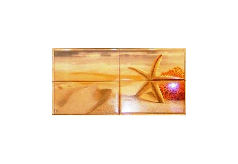 "Ceramic Decor Tile "" Marbella 8227"""