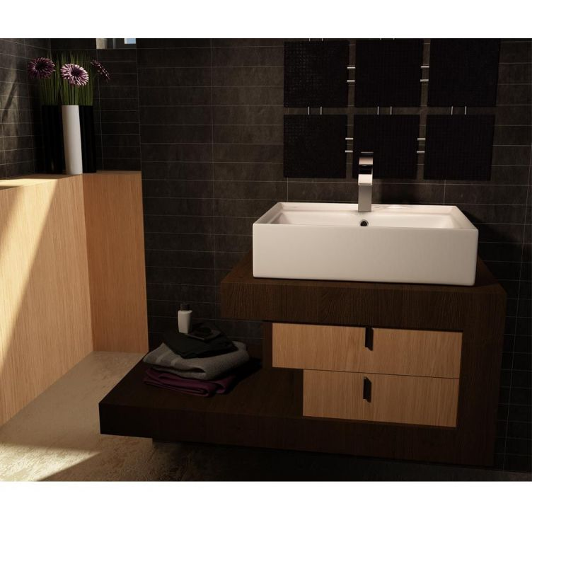 Square Basin Over the Counter top