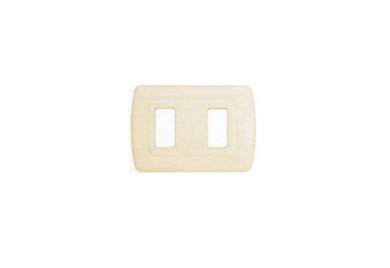 Magic Advance Ivory Cover Plate Two Modules