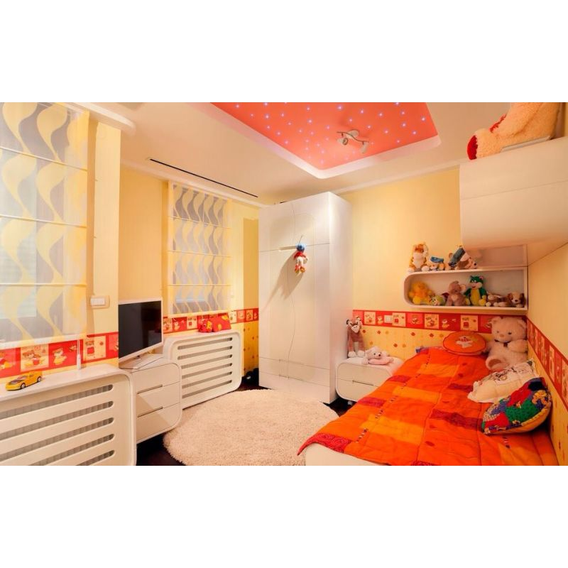 Peach Kids bedroom