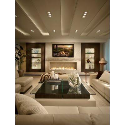 تصميم غرفة المعيشة الدافئة