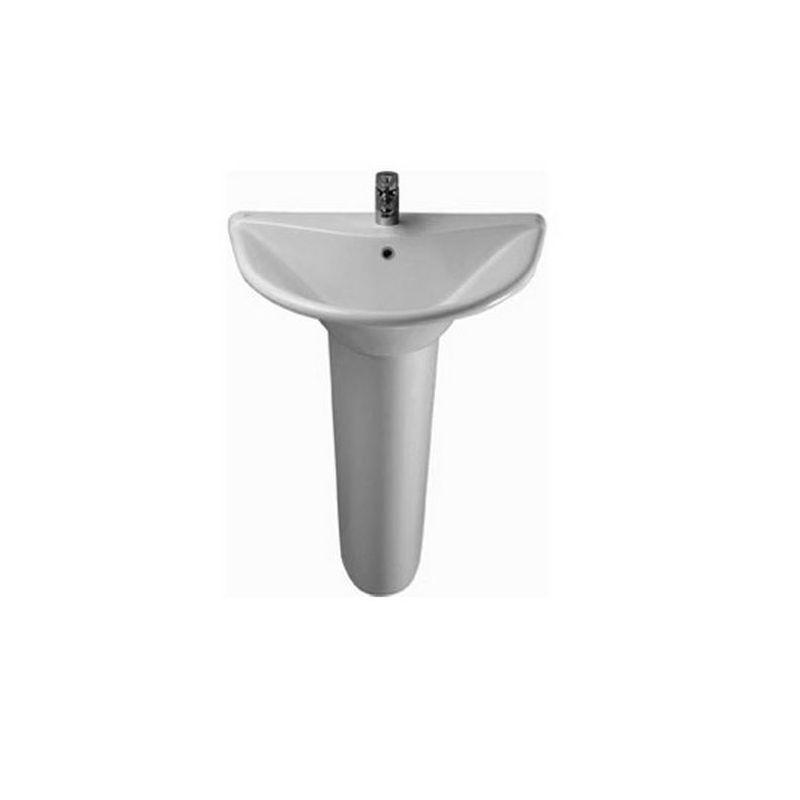Diagonal Floor Pedestal Basin 77 cm