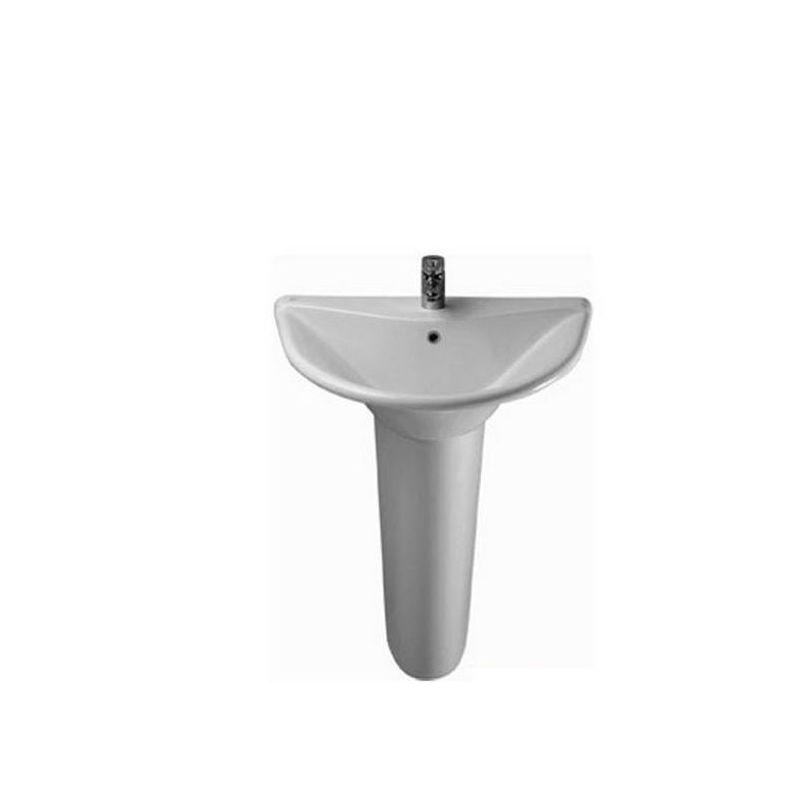 Diagonal Floor Pedestal Basin 68 cm