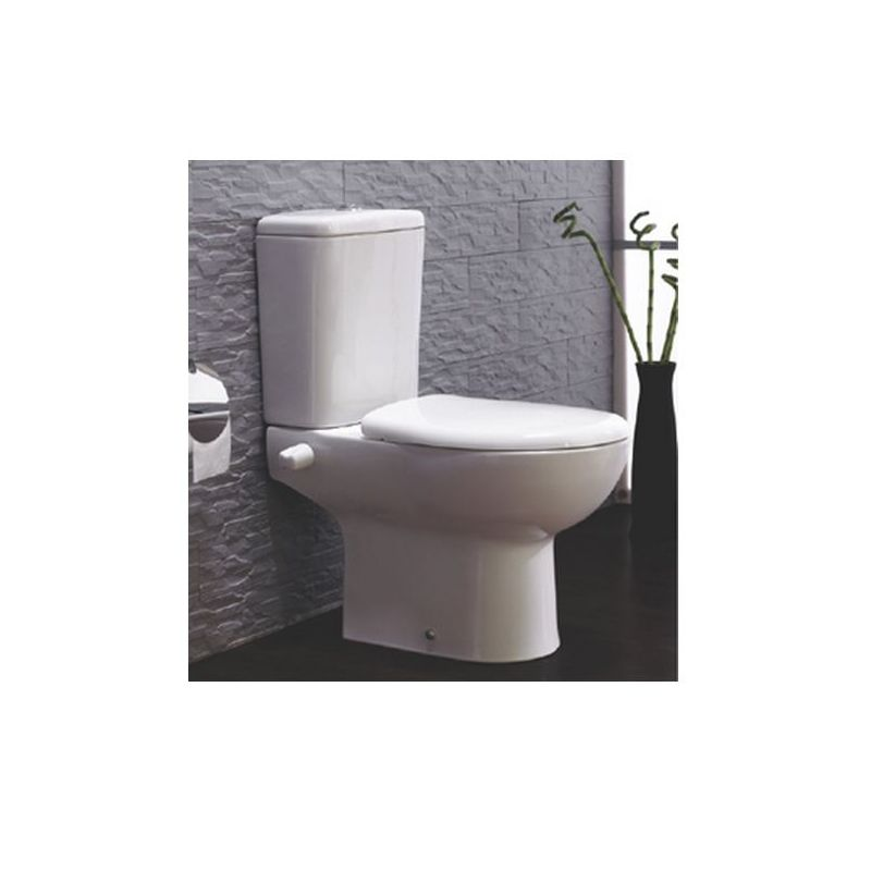 Plan Toilet with Solid Seat&Cover