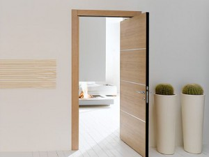 Your Modern Bedroom Door Should Be Unique With Bright Colors This Room Doors Features Brilliant Where The Color Of Curtains Walls Chairs Is Gray