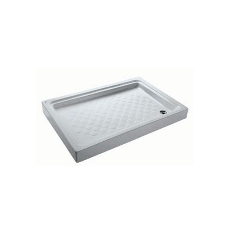 حمام قدم مستطيل بالجانب ( 120 × 80 × 14 ) سم.