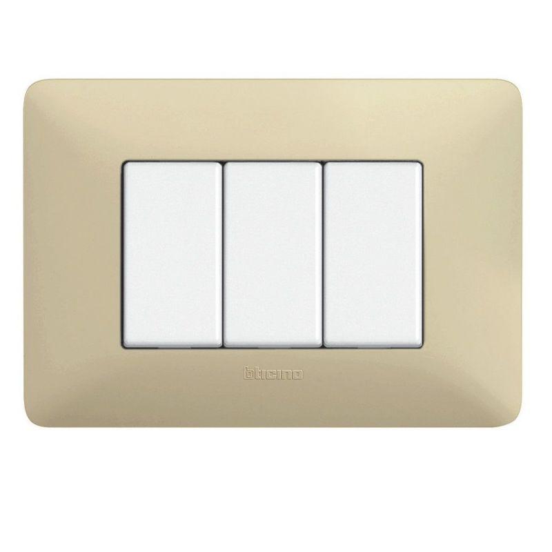 Cord Whites Cover Plates Three Modules