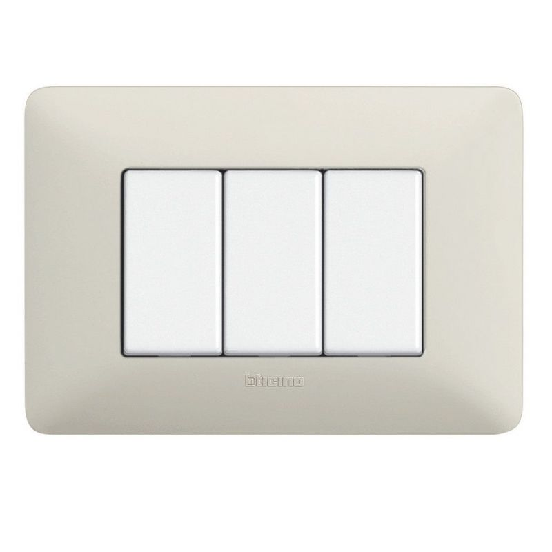 Ash Whites Cover Plates Three Modules