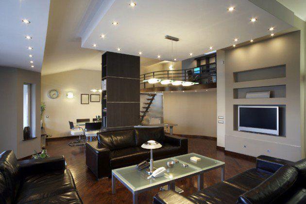 أفكار الإضاءة لغرفة المعيشة