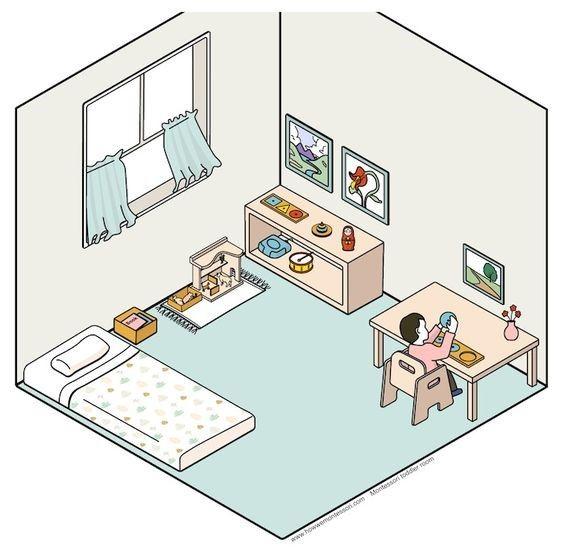 ما رأيك لو صممتي غرفة طفلك على طريقة منتسوري؟